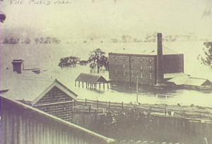 Thompson's Mill, inundated by flood of 1898.