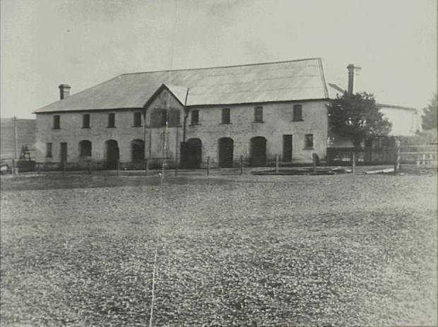 The white stone stables believed to have been constructed for John Oxley in 1816