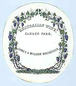 Label used on wine production from Camden Park Estate
