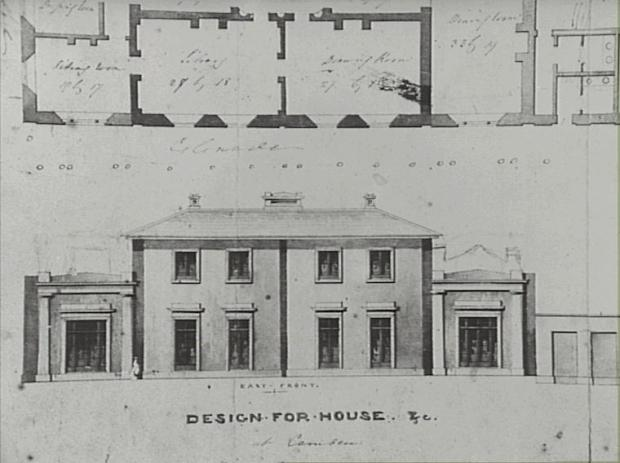 Early architectural drawings revealing the pallidan proportions.