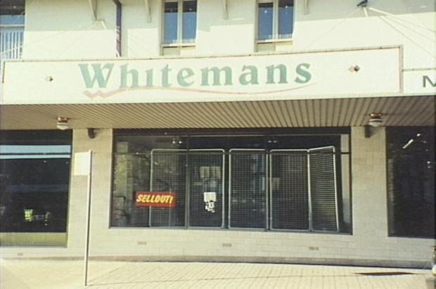 Last days. Whiteman's closing down in 2000.
