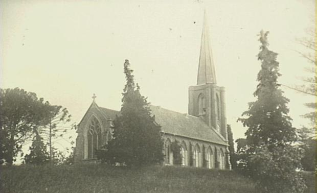 St John's Anglican Church. Pictured around 1900 from Brought Street. Copyright: Camden Historical Society.