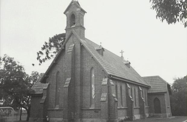 St Thomas Church.On of the churches built during the 1800s development of the Narellan area. Copright: Camden Historical Society.