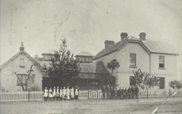 Camden Public School, which became the Emergency Hospital to deal with the 50 patients. Copyright: Camden Historical Society.