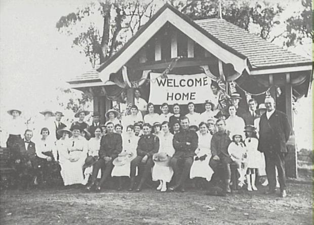 The warm welcome home to tropps returning from World War I quickly became a greeting of illness. Copyright: Camden Historical Society.