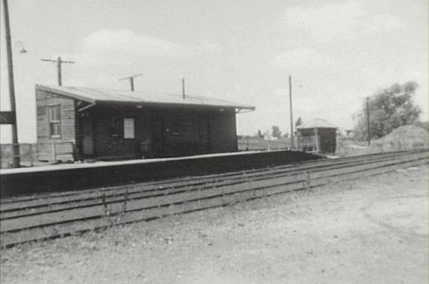 Narellan Railway Station. Copyright: Camden Historical Society.
