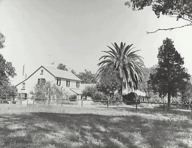 From northern side showing the Hassall additions and the nineteenth century garden. Copyright: Camden Historical Society.