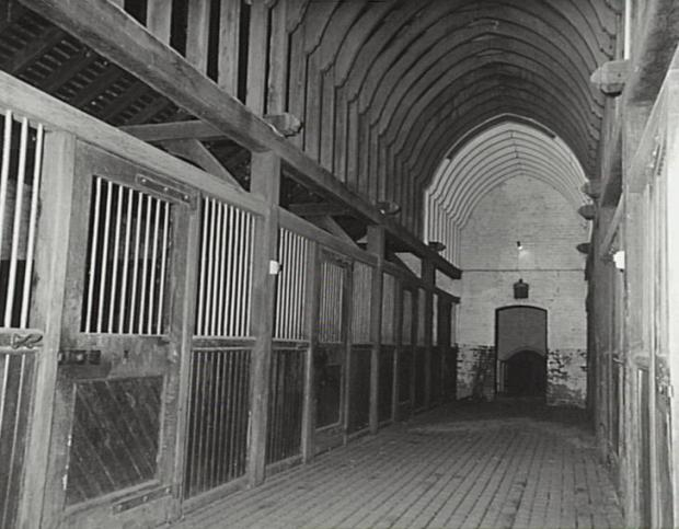 Interior view of stables at Camelot, Kirkham. c.1995. Copyright: Camden Council Library Service.