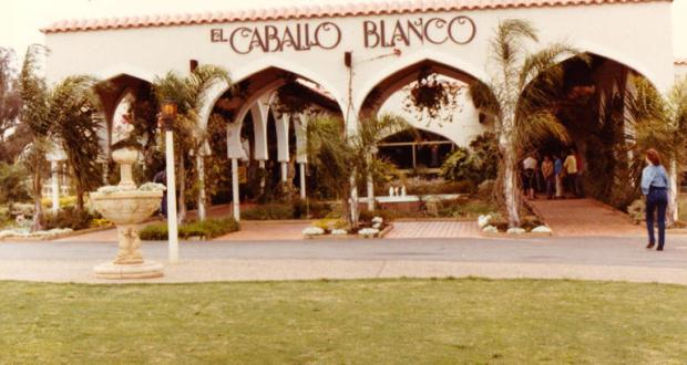 Entrance to arena complex at El Caballo Blanco built by Western Australian business entrepreneur Ray Williams. Copyright: Camden Council Library Service.
